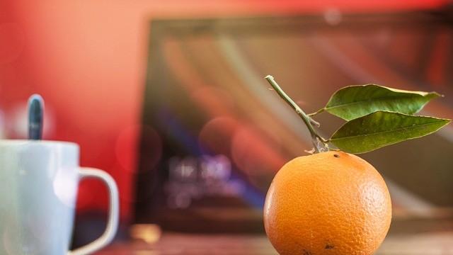 Cestas de fruta en la oficina